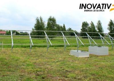 Inovativ instalacja fotowoltaiczna 10kWp konstrukcja na gruncie