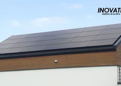Inovativ instalacja fotowoltaiczna 7kWp dach z paneli fotowoltaicznych