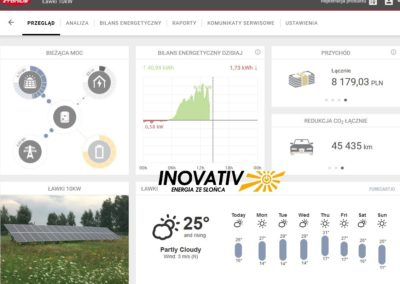 strona Fronius Solarweb instalacja fotowoltaiczna 10kWp na gruncie 2